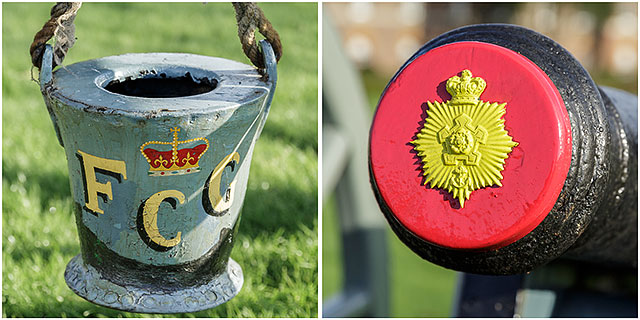 Portsmouth Fort Cumberland Guard Three Pounder Cannon Fire Bucket Decorative Barrel Plug