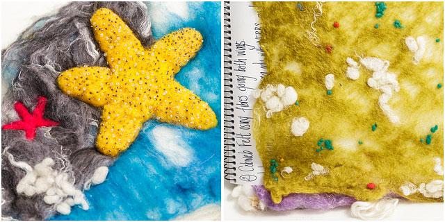Cobweb Seascape Felt