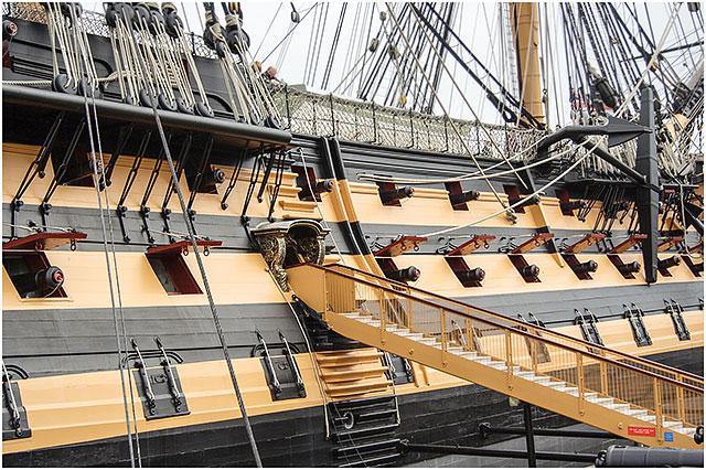 Gangway HMS Victory Portsmouth Dockyard