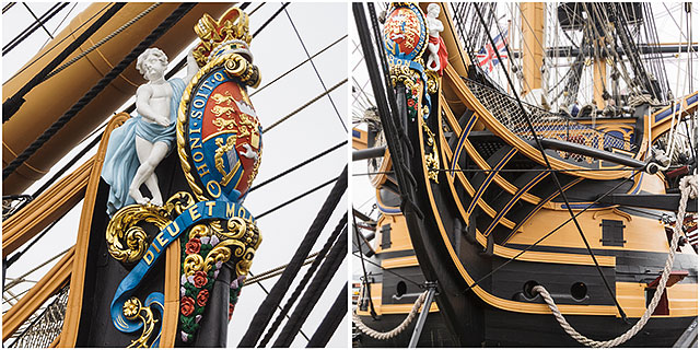 Figurehead HMS Victory Portsmouth Dockyard
