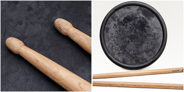 Practice Rubber Drum Wooden Sticks