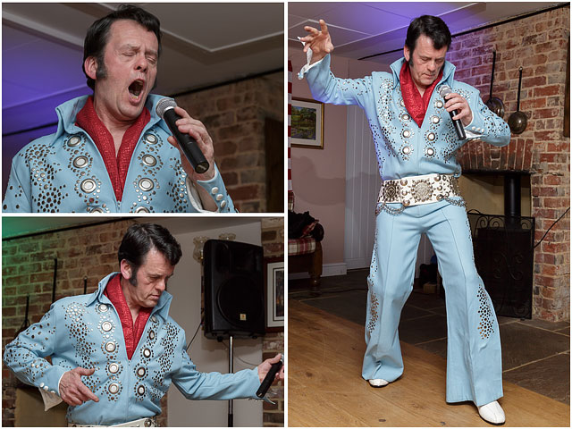 Fox Hounds Denmead Public House Elvis Tribute Singer Blue Las Vegas Suit