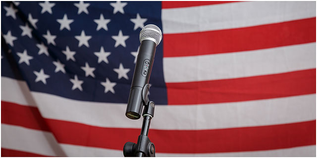 Fox Hounds Denmead Public House Elvis Tribute Singer American Flag Microphone