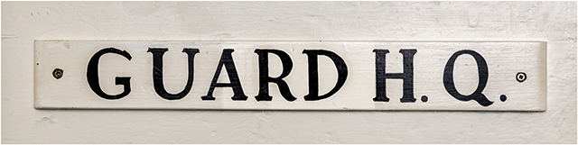 Fort Cumberland Guard Deadquarters Door Sign