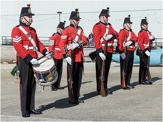 1830 Fort Cumberland Guard Drill Demonstration Portsmouth Historic Dockyard