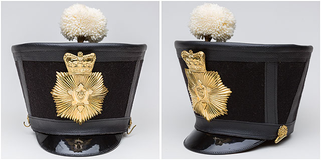 1860s Fort Cumberland Guard Bell Topped Shako Hat Badge Plume