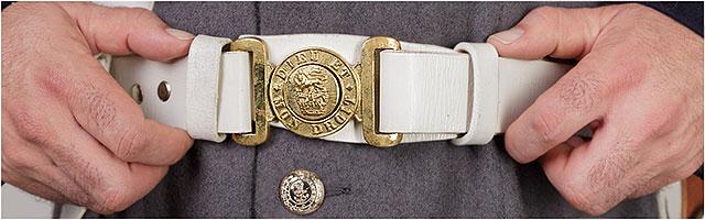 1860s Fort Cumberland Guard Belt Buckle Dieu et Mon droit