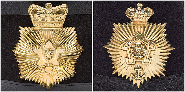1860s Fort Cumberland Guard Hat Badges