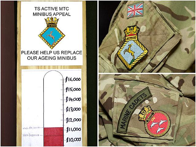 TS Active Marine Training Corps Minibus Appeal Marine Cadet Badges