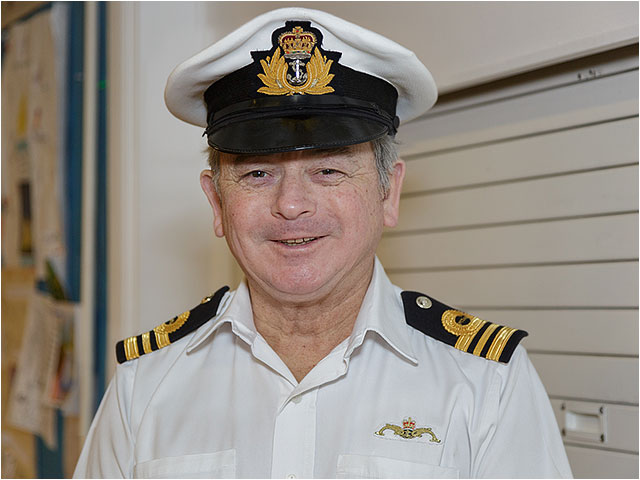 Headshot portrait of Lieutenant Commander Tony Crisp Marine Training Corps