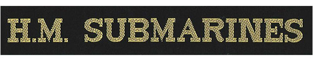 HM Submarines Royal Navy cap tally