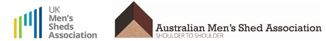 Austrialian Men's Shed Association and UK Men's Sheds Association Logos