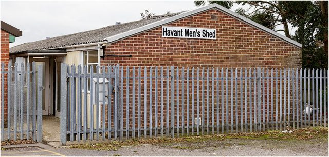 Front entrance to the Havant Men's Shed