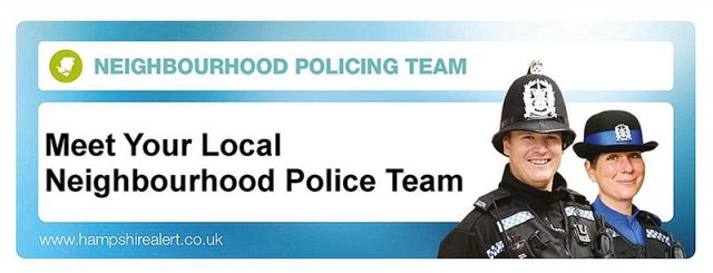 Local neighbourhood police surgery poster