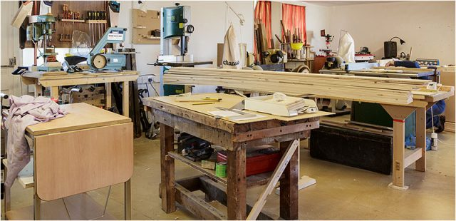 Inside the Havant Men's Shed