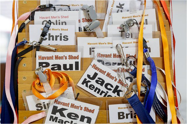 Havant men's shed name badges