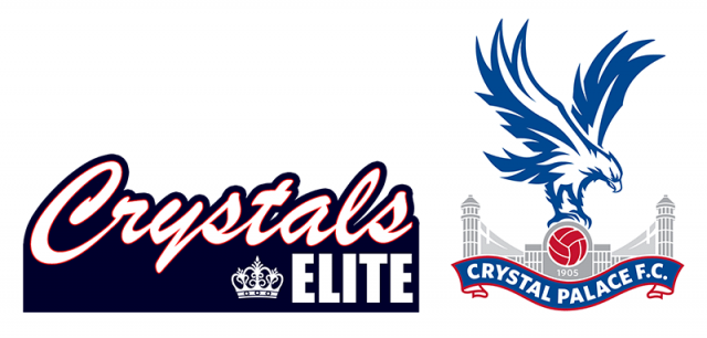 crystal palace football club logo with the crystals elite cheerleaders logo