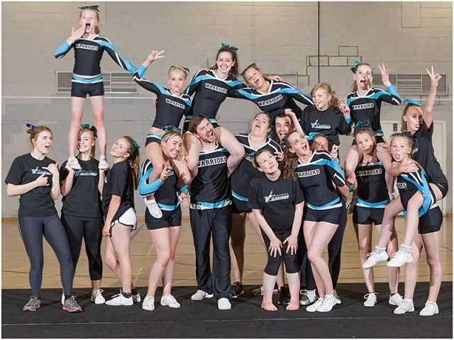 portsmouth warriors cheerleading squad