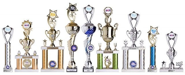 Portsmouth warriors cheerleading trophies