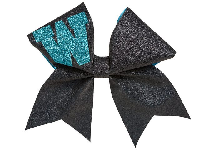 Warrior cheerleader bow front