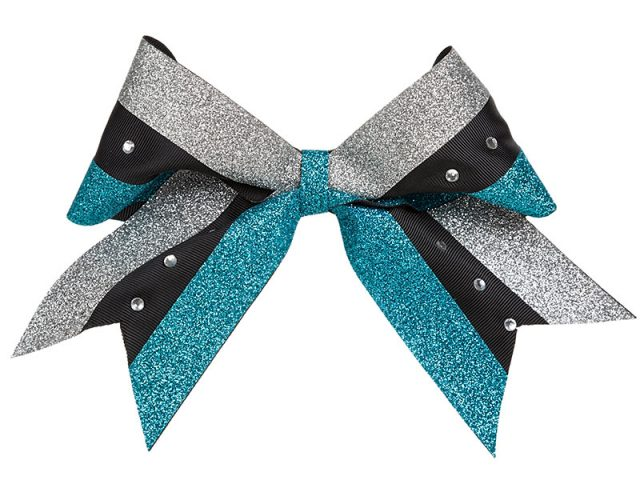 Warriors cheerleader bow rear
