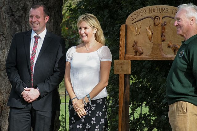 Handover of gomer junior school nature trail sign
