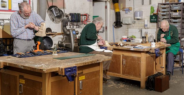 Carve-In day for solent guild of woodcarvers and sculptors at portsmouth grammar school