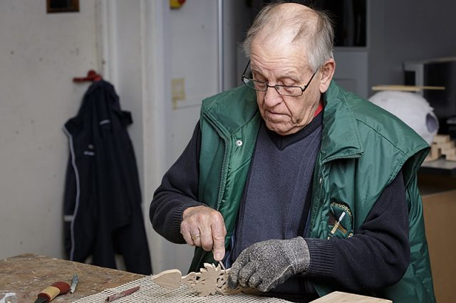 male woodcarver
