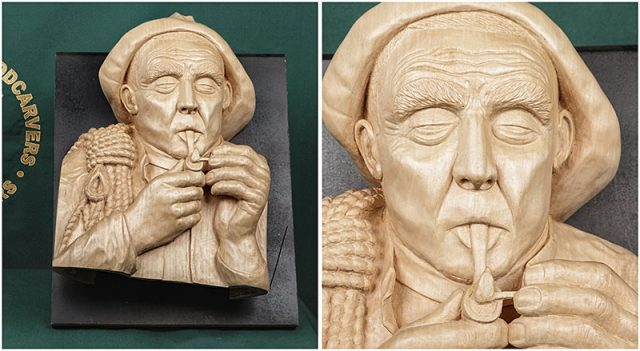 carvings by a member of the solent guild of woodcarvers and sculptors