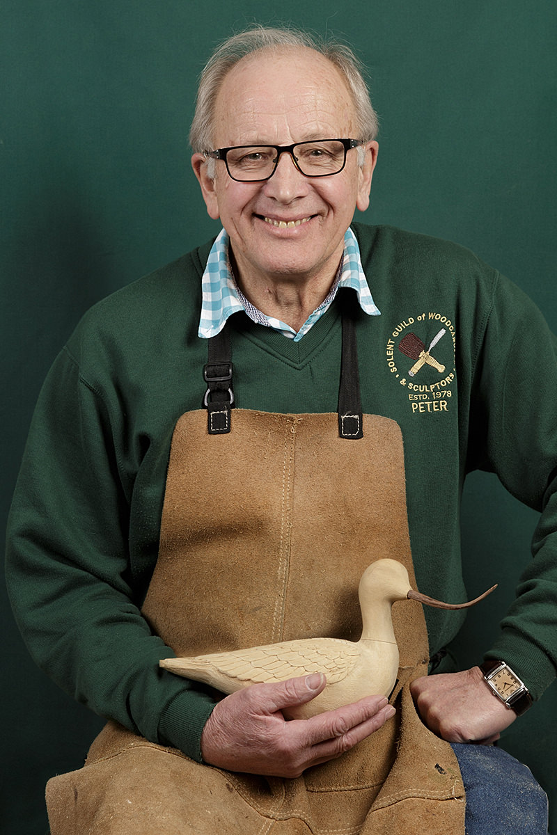 portrait of Peter Warren a member of the solent guild of woodcarvers and sculptors