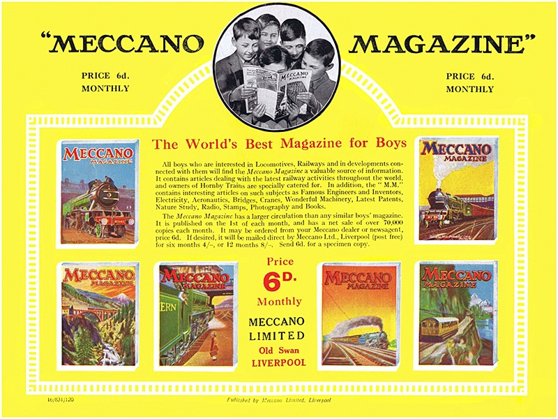 Early Meccano magazine advertising