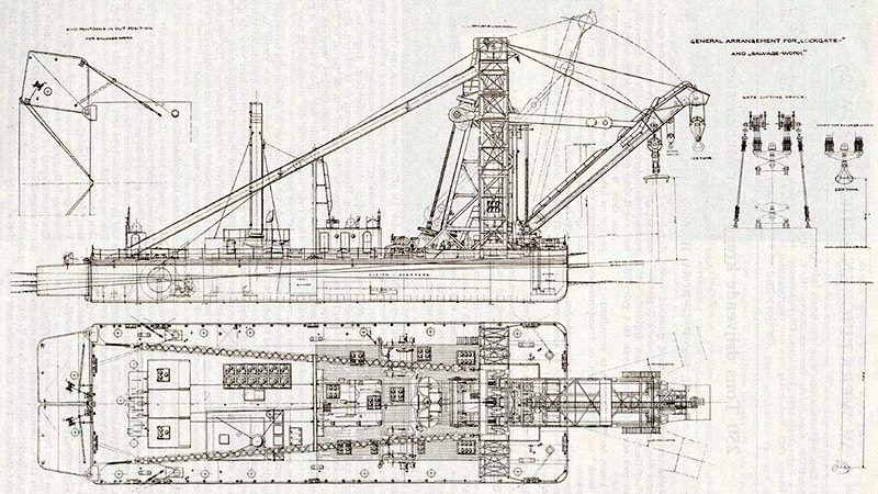 Manchester Ship Canal barge reference drawing