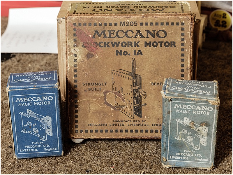 Old fashioned meccano motor in original box