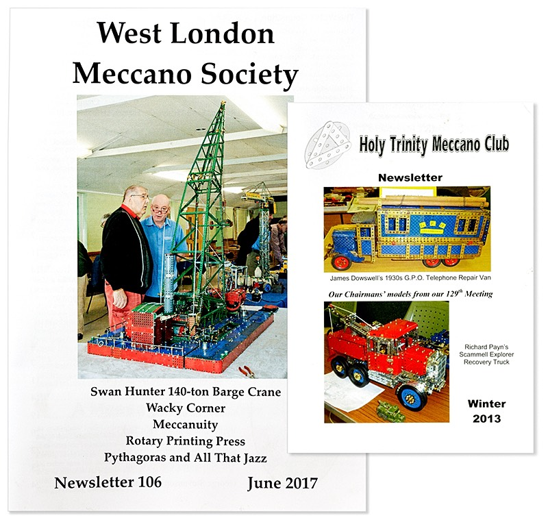 Meccano club newsletters