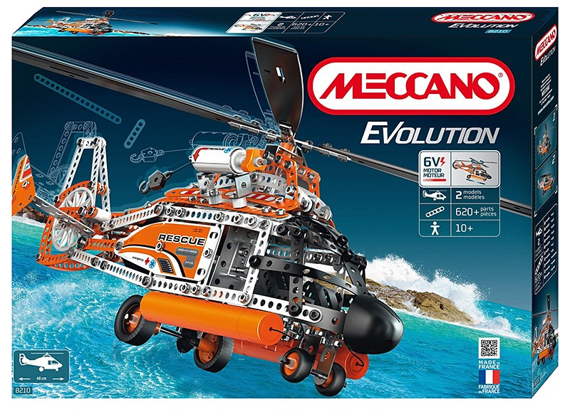Modern Meccano evolution helicopter model