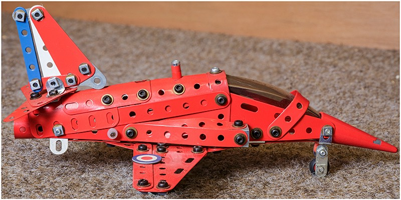 Harrier Jump Jet Meccano Model