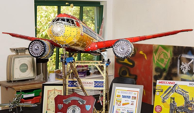 Meccano Aeroplane by Colin Bull