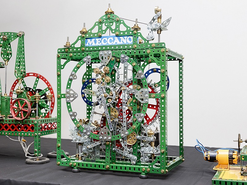 Time Piece Meccano Model by Bob Palmer