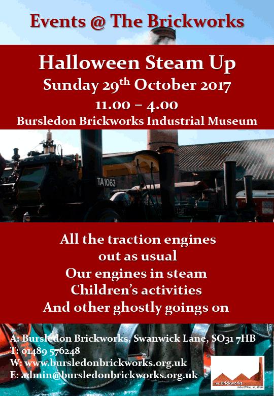 steam up poster for bursledon brickworks museum