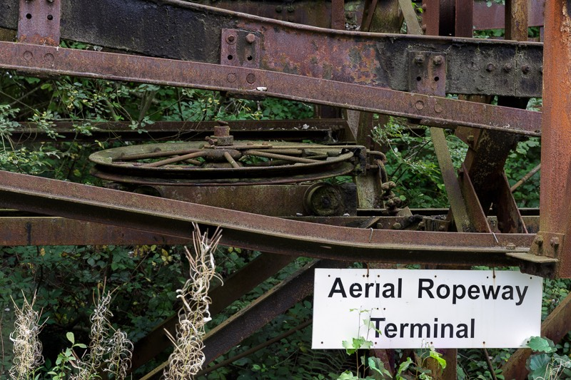 Remains of the original aerial ropeway