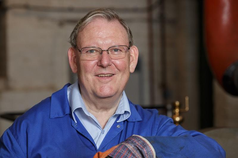 Headshot portrait of volunteer engineer at bursledon brickworks museum