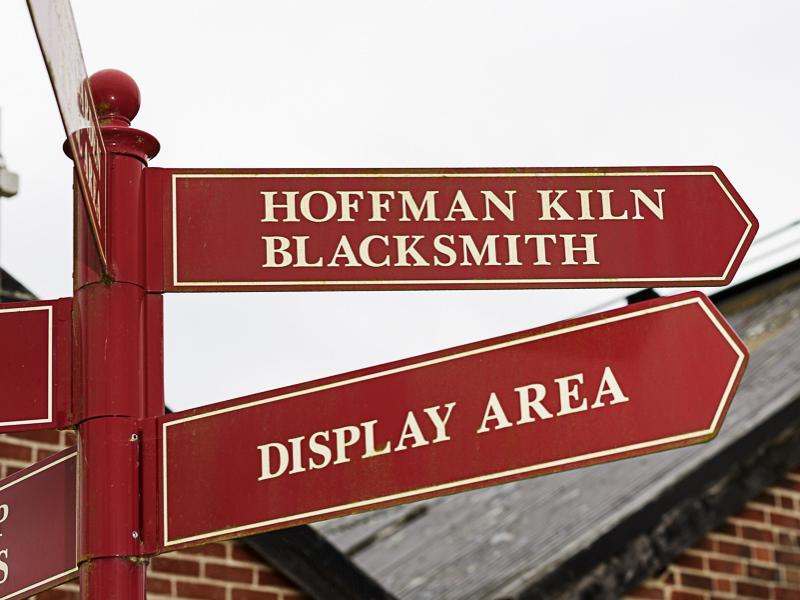 signage at bursledon brickworks museum