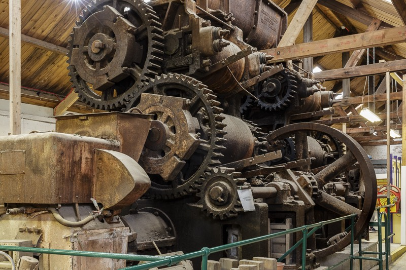 clay mill and extruder at bursledon brickworks museum