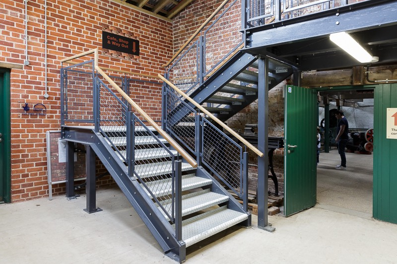 Examples of the metal stairways paid for from the lottery grant.