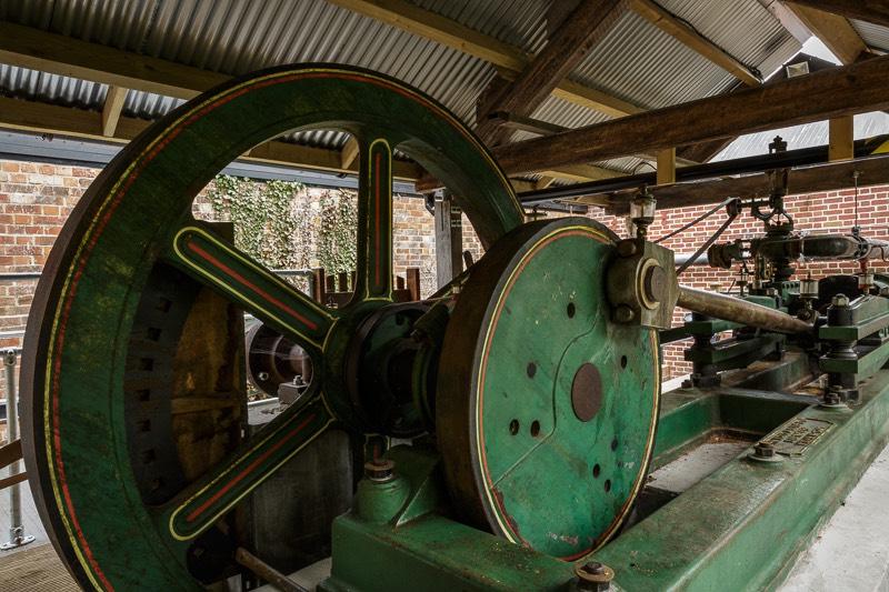 Number two John Wood steam engine at bursledon brickworks museum