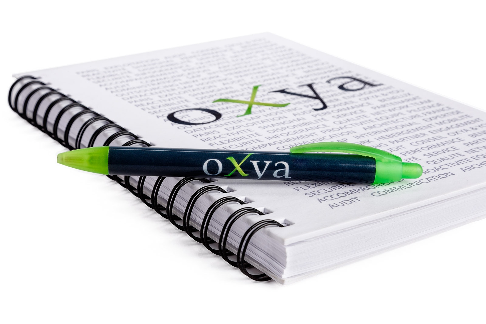 oxya uk stationery business merchandise on white background