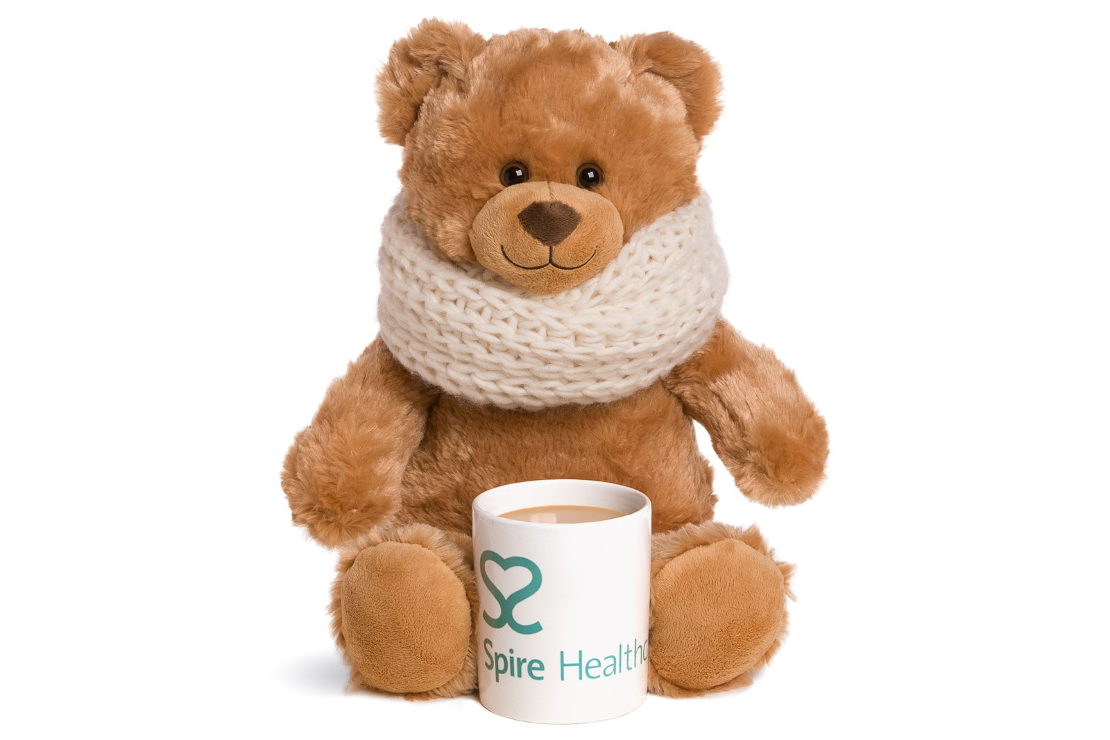 spire healthcare campaign teddy bear product on white background