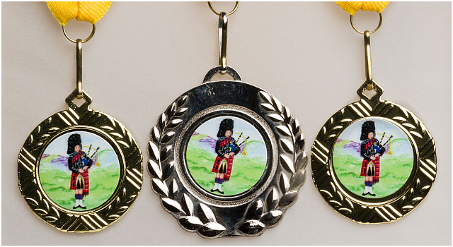Scottish Bagpiping Award Medals