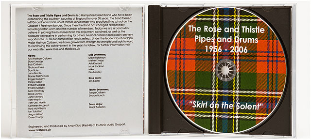 Music CD of The Rose and Thistle Pipe and Drums Band